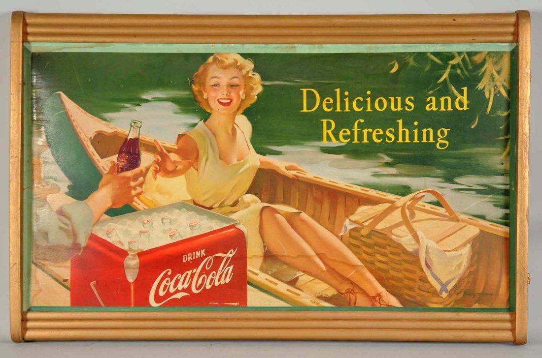 """Coca-Cola """"Delicious and Refreshing"""" Cardboard"""
