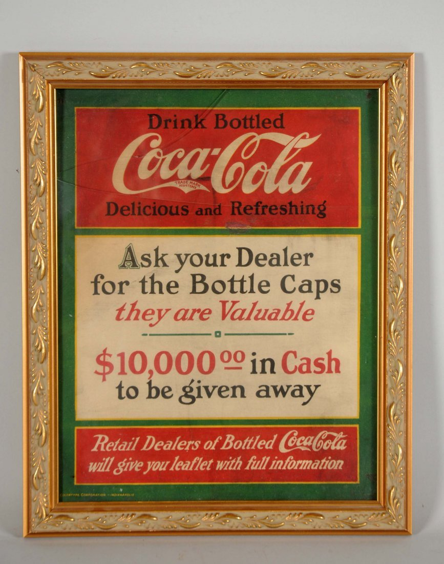 "Coca-Cola Cardboard ""Ask Your Dealer"" Advertising Sign."