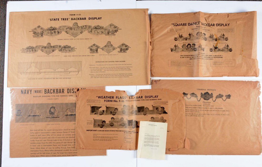 Lot Of 5: Coca-Cola Backbar Packaging Envelopes.