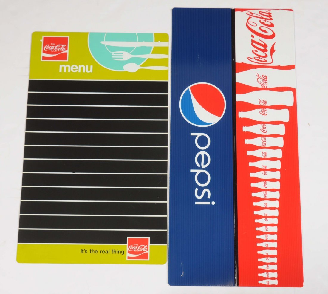 Lot Of 2: Coca-Cola Menu Board and Sign.
