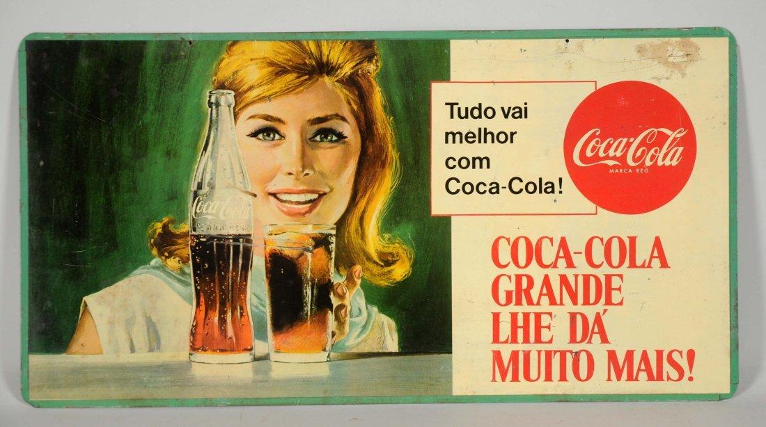 Coca-Cola Mexican Tin Advertising Sign.