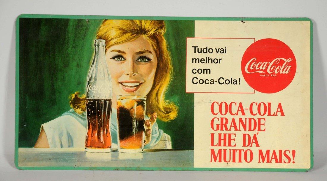 Coca-Cola Mexican Tin Advertising Sign. - 2