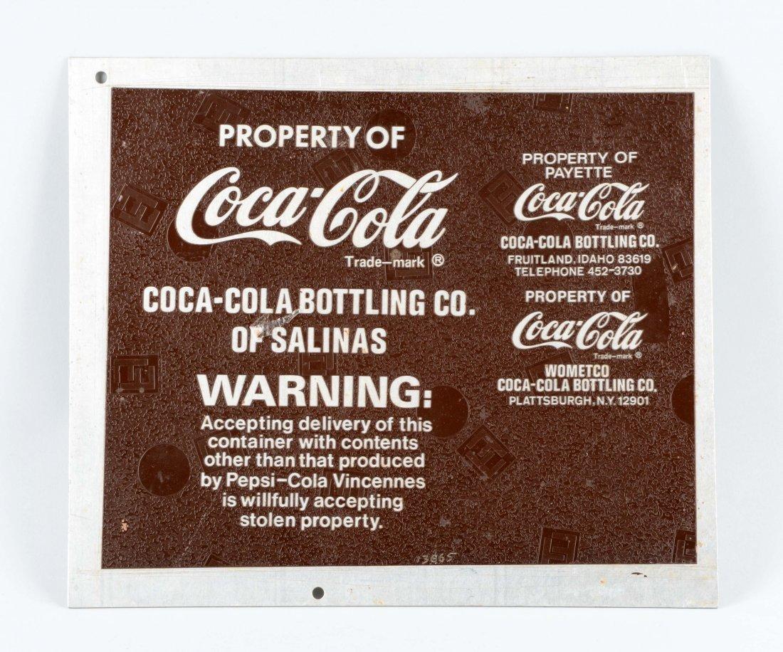 Coca-Cola Bottling Plant of Salinas Metal Sign.