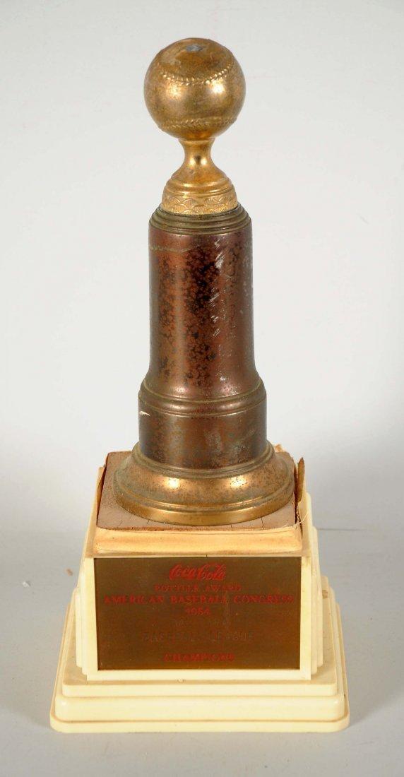 1954 Coca-Cola American Baseball Congress Trophy.