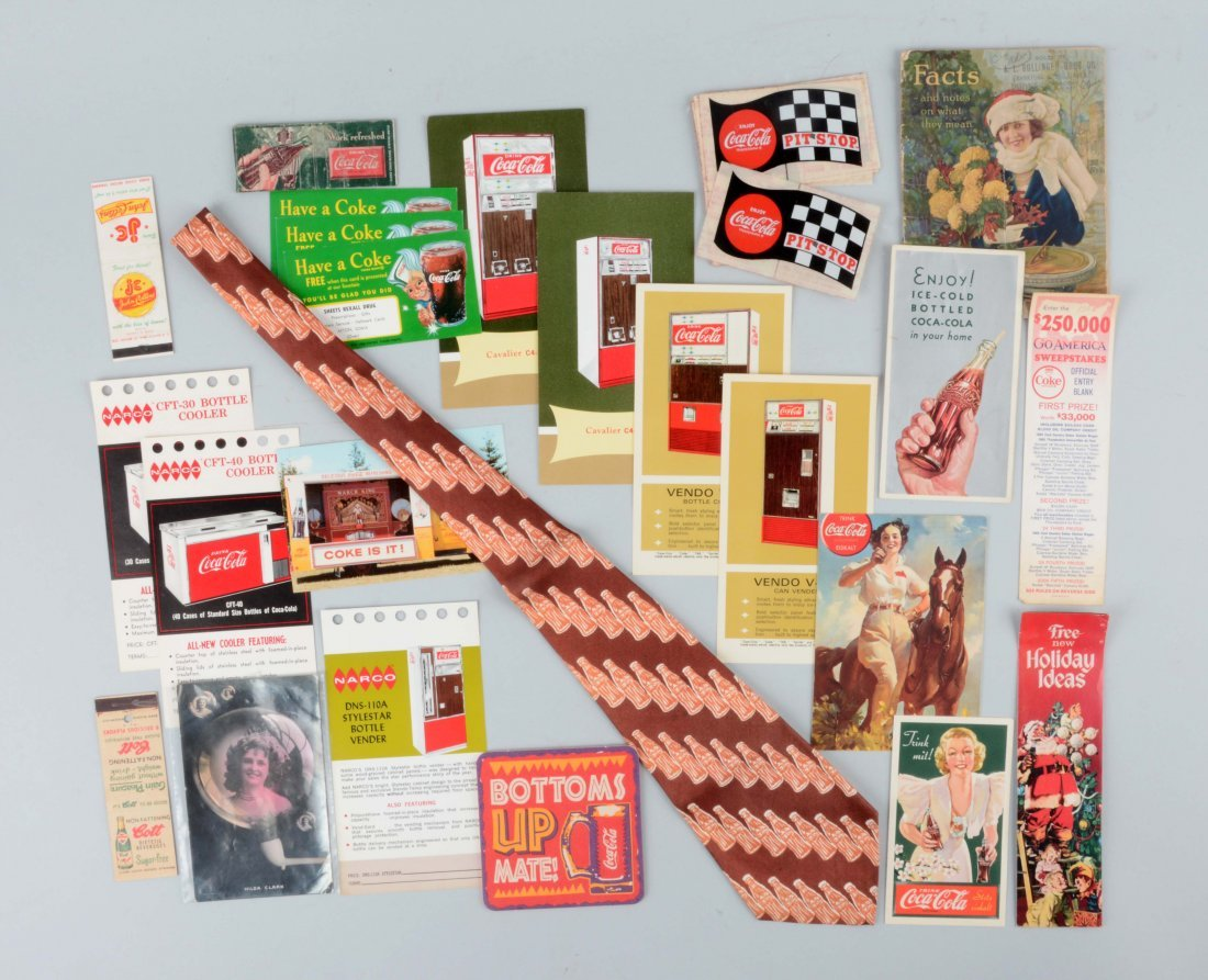 Large Lot Of Coca-Cola Advertising Pieces.
