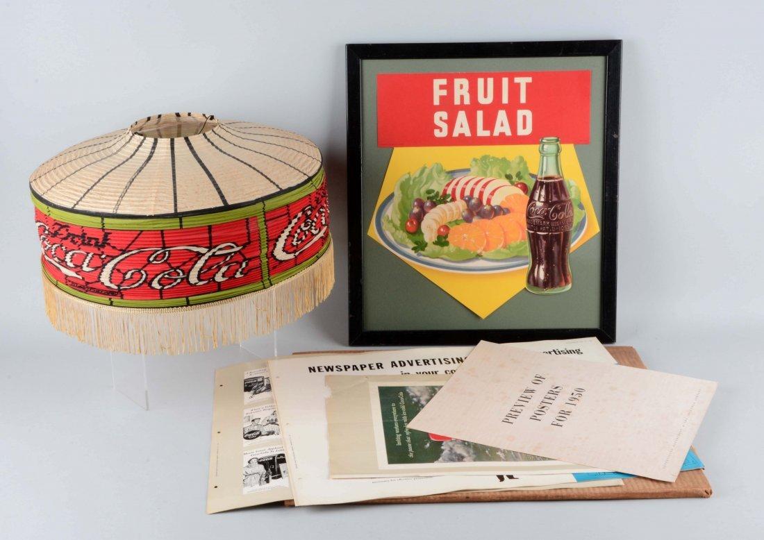 Lot Of 3: Coca-Cola Display Pieces.