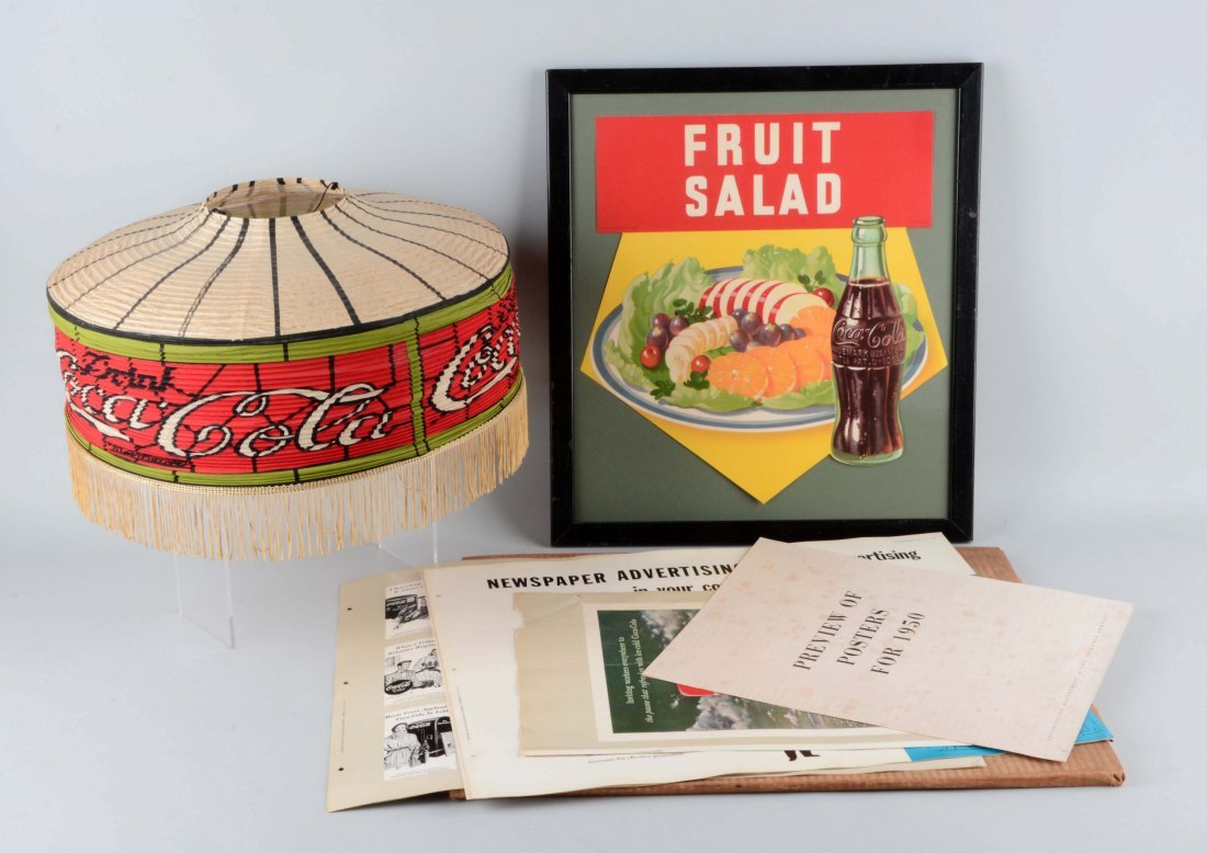 Lot Of 3: Coca-Cola Display Pieces.