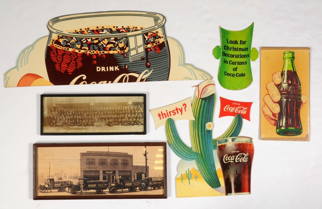 Lot Of 5: Coca-Cola Signs & Photographs.