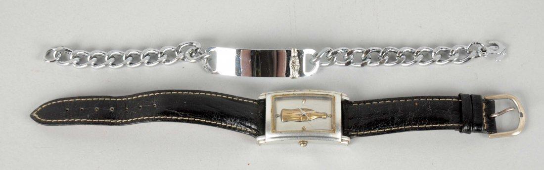 Lot Of 2: Coca-Cola Watch & Bracelet.