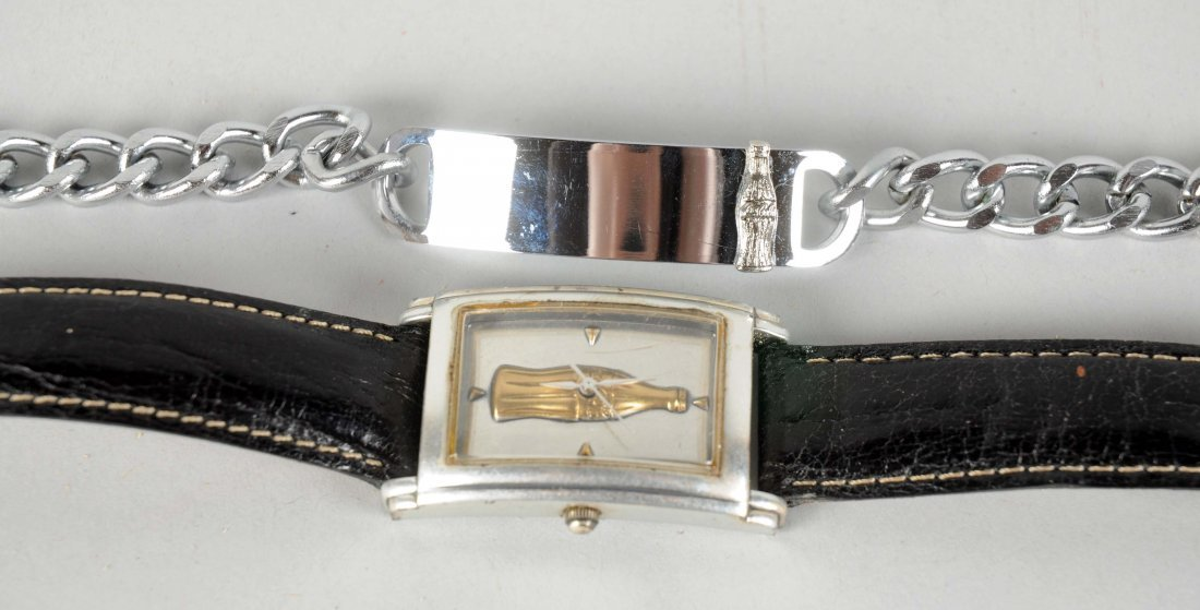 Lot Of 2: Coca-Cola Watch & Bracelet. - 2