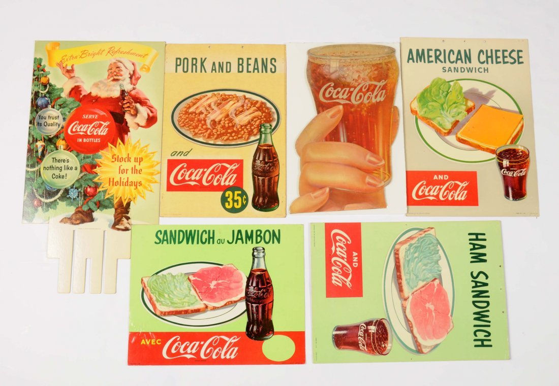 Lot of 6: Coca-Cola CardboardSigns.