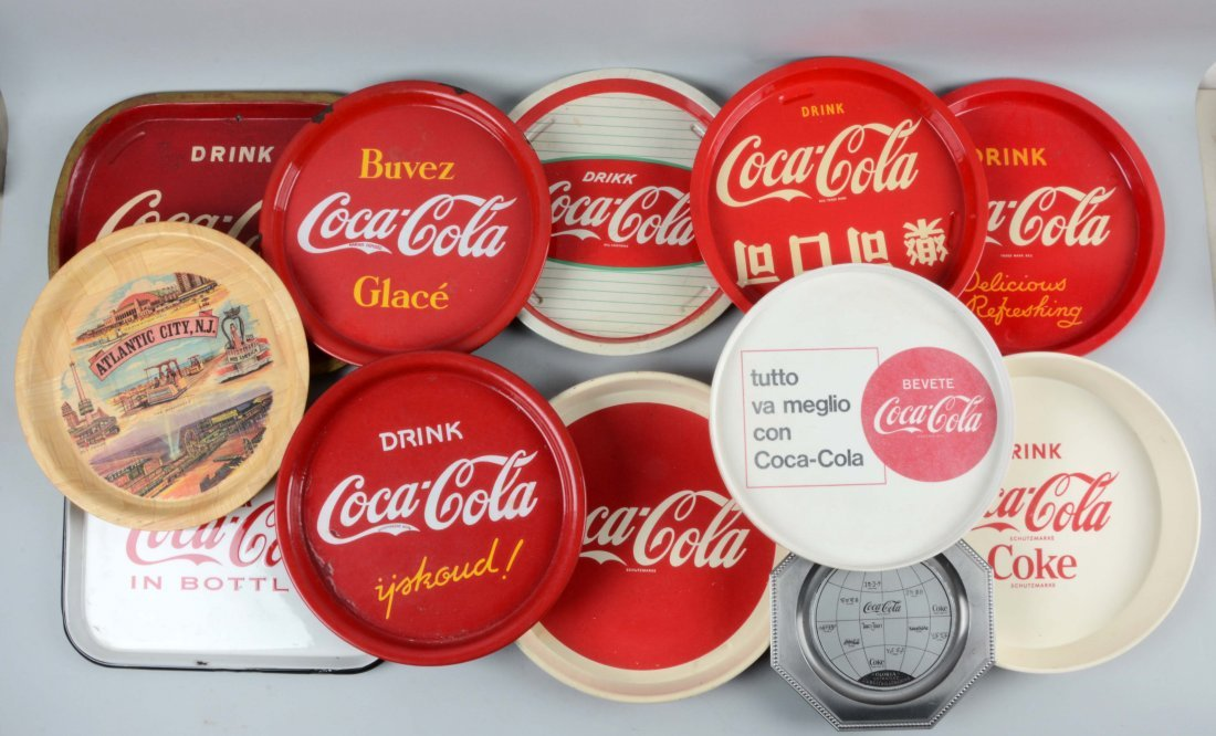 Lot of 12: Coca-Cola Trays.