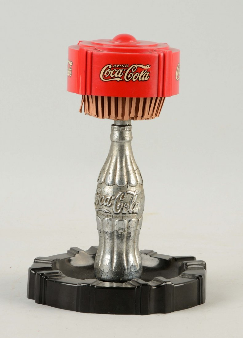 Early Coca-Cola Match Pull Ashtray.
