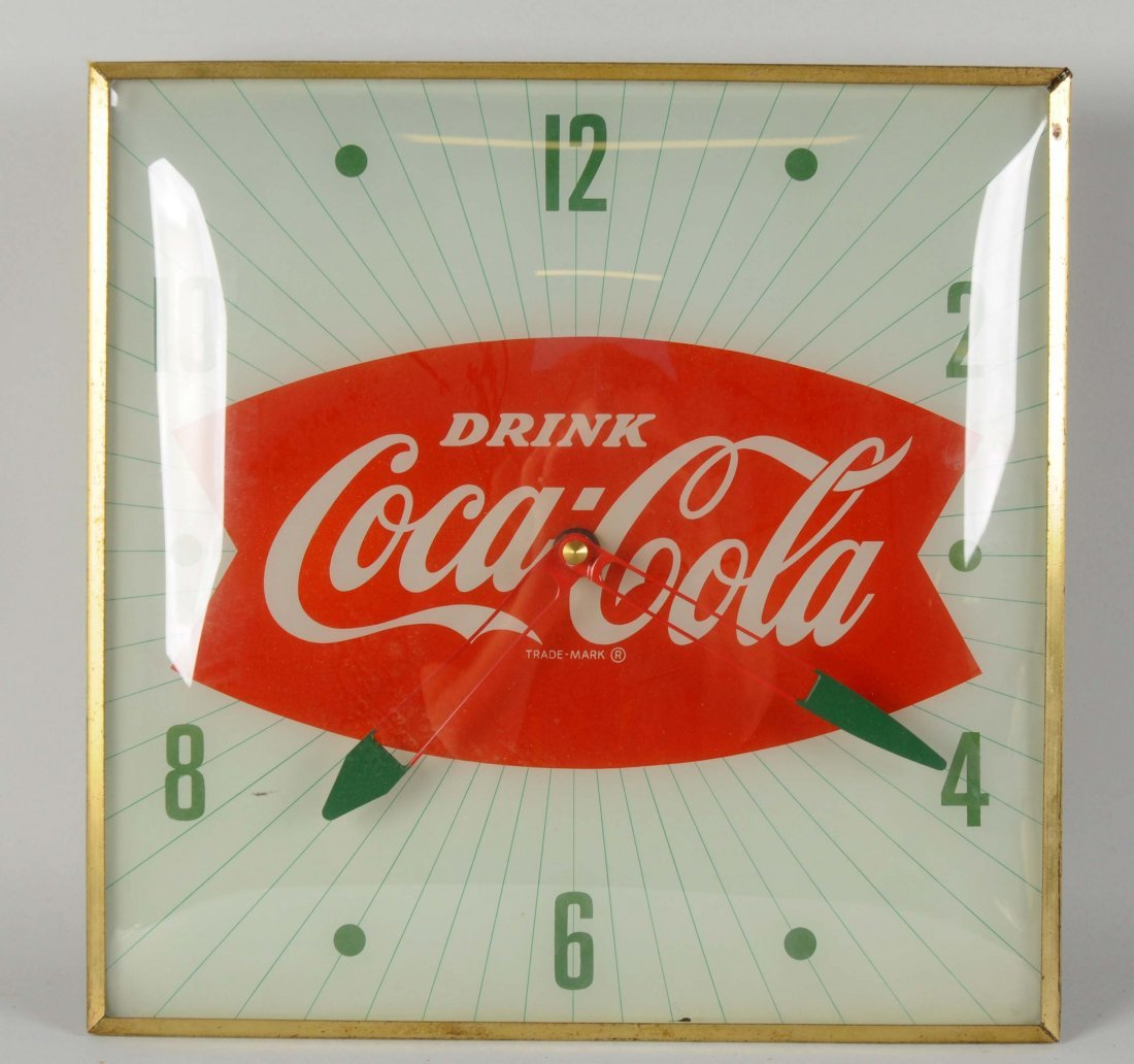 Coca-Cola Fishtail Light Up Wall Clock.