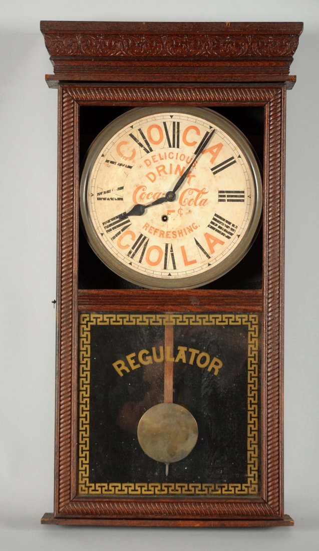 Coca - Cola Advertising Regulator Clock.