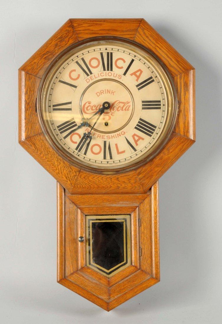Coca - Cola Wooden Regulator Clock.