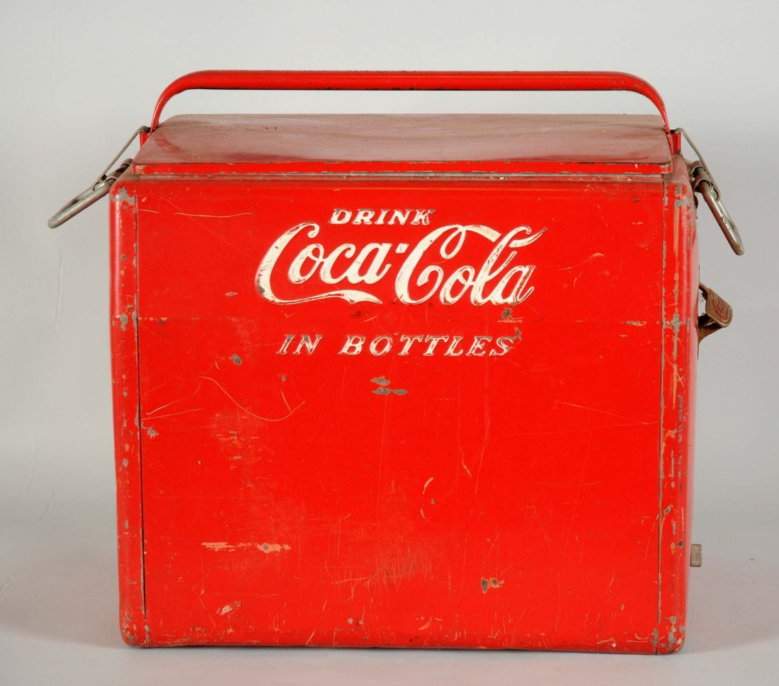 Drink Coca - Cola In Bottles Advertising Cooler.