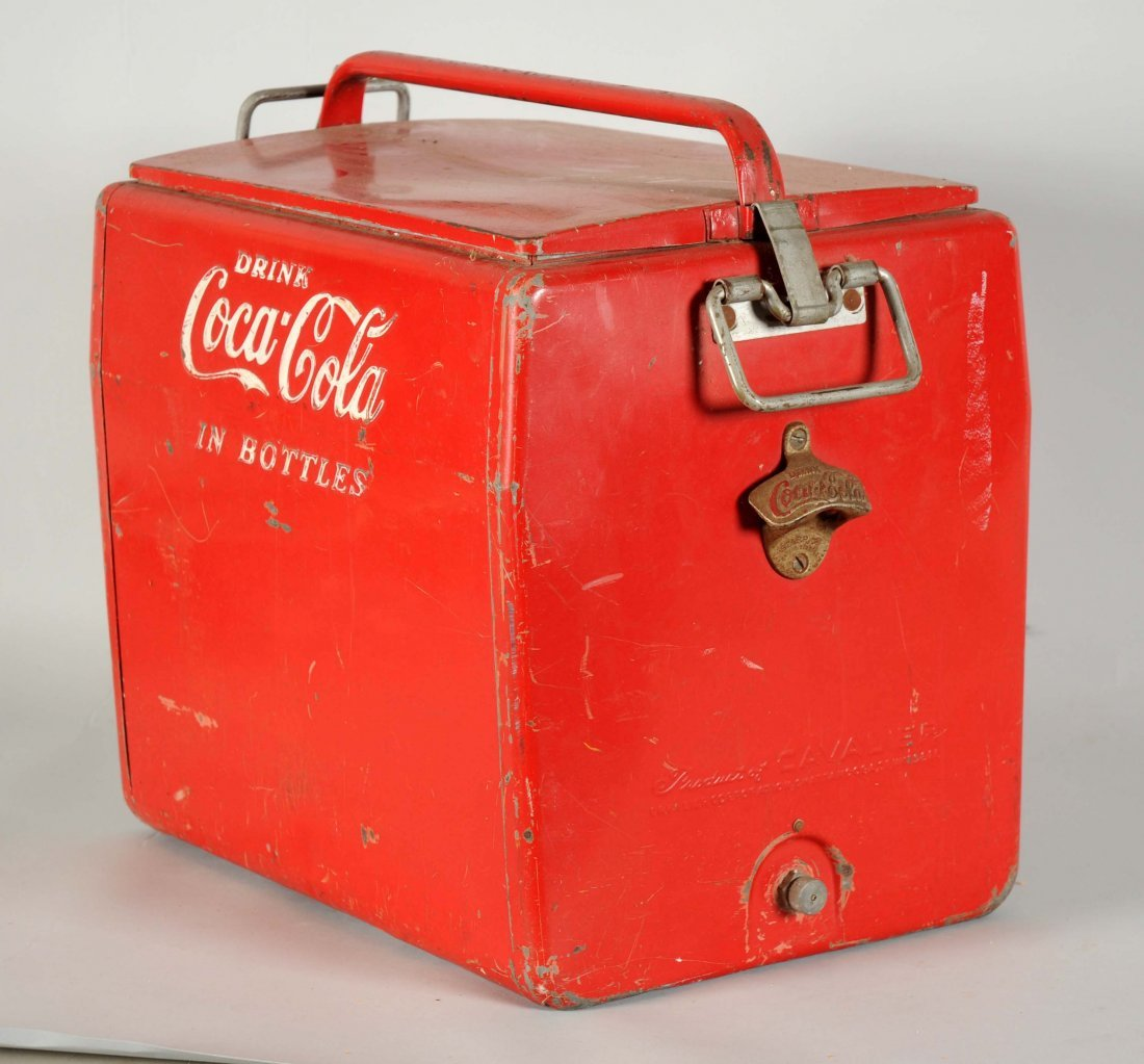 Drink Coca - Cola In Bottles Advertising Cooler. - 2