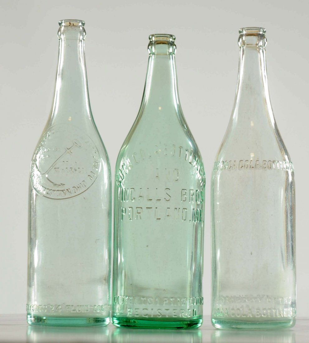 Lot Of 3: Over Sized Coca - Cola Bottles.