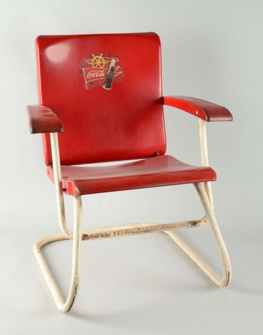 Coca - Cola Advertising Metal Folding Chair.