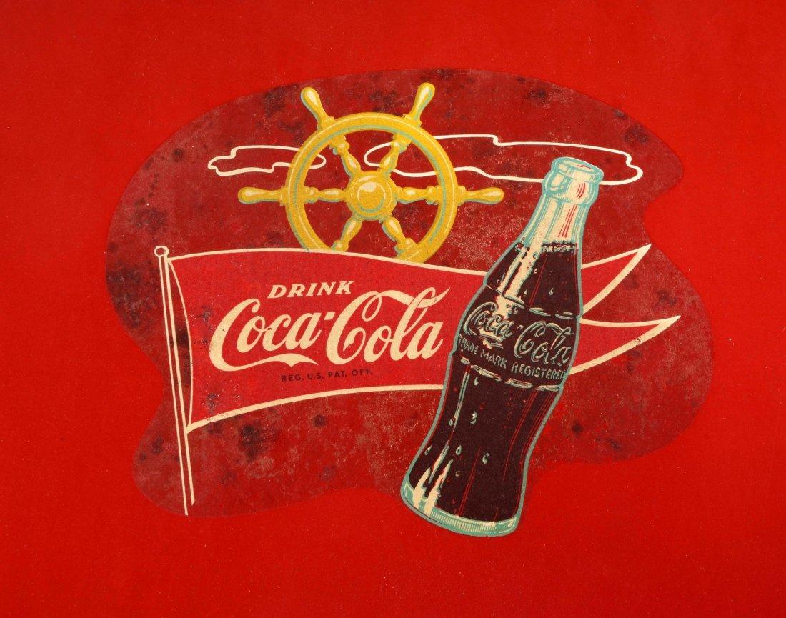 Coca - Cola Advertising Metal Folding Chair. - 2