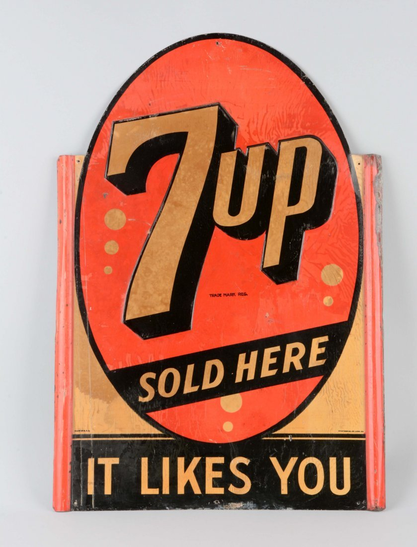 7 Up Tin Advertising Sign.