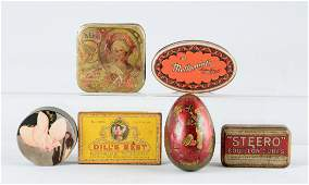 Lot Of 6 Early Advertising Tins