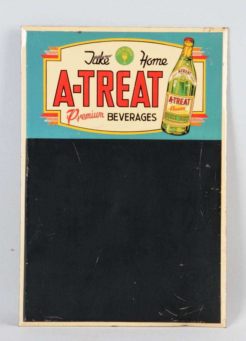A - Treat Beverages Tin Chalkboard Sign.