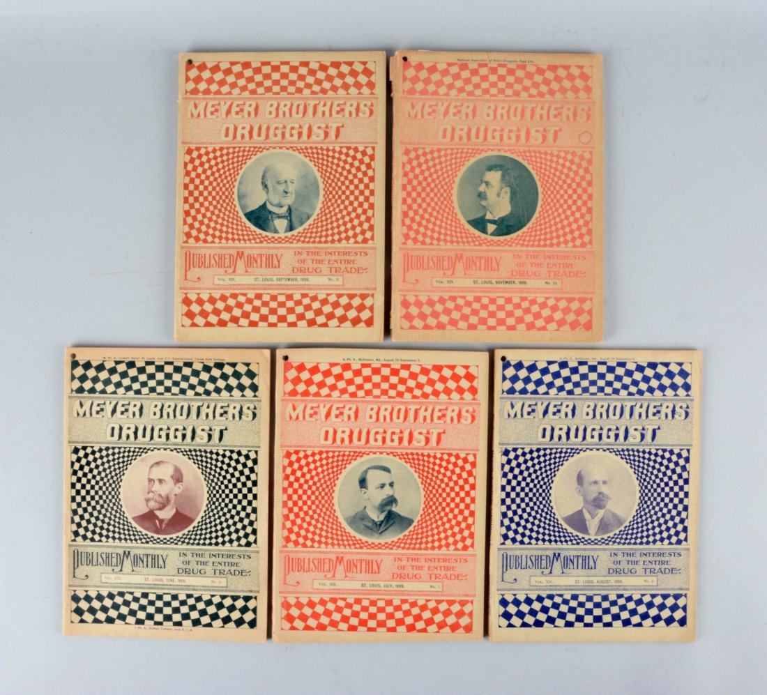 Lot Of 5: Meyer Brothers Druggist Books.