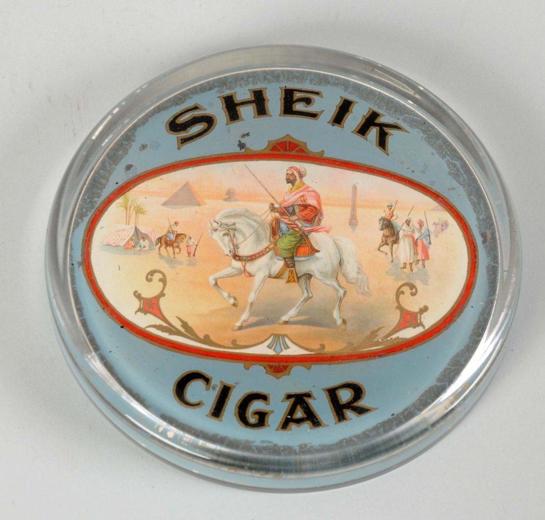 Reverse Glass Sheik Cigar Paperweight.