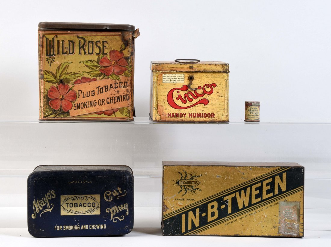 Lot Of 5: Tobacco Tins.