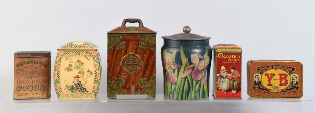 Lot of 6: Early Advertising Tin.