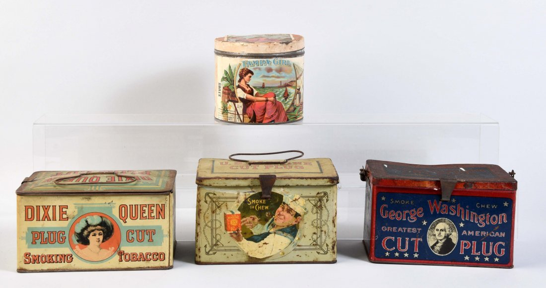 Lot Of 4: Tobacco Tins.