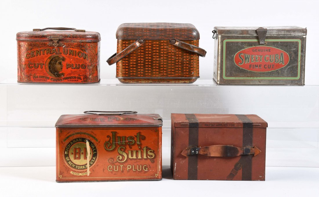 Lot Of 5: Tobacco Advertising Tins.