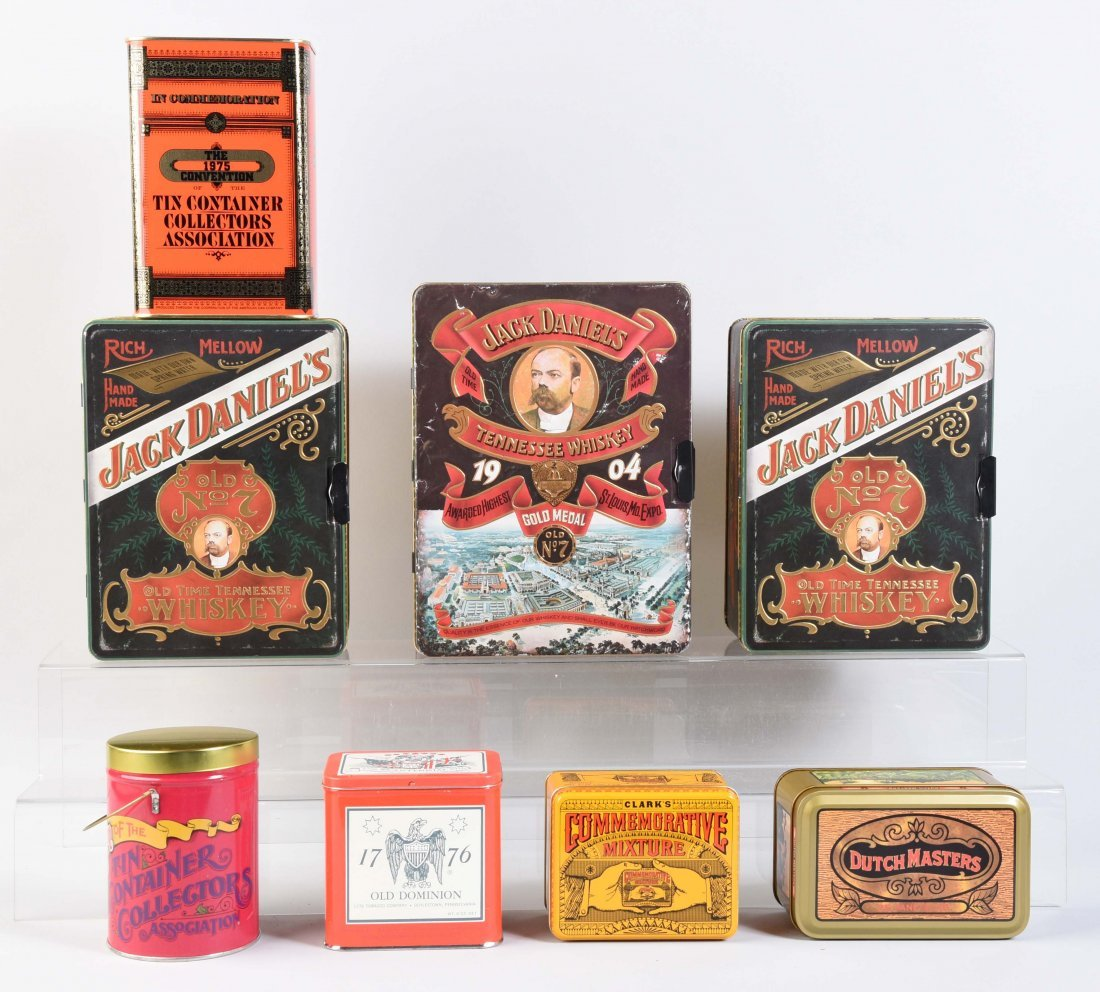Lot Of 8: Contemporary Advertising Tins.