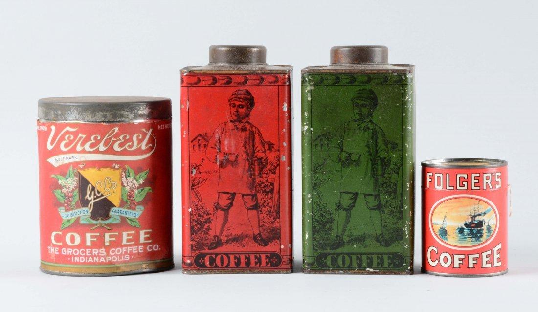 Lot Of 4: Coffee Tins.
