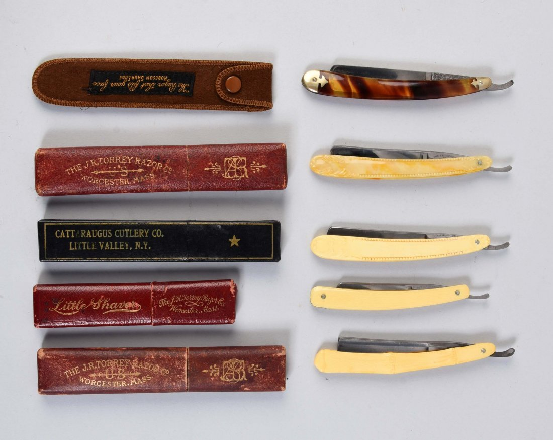 Lot Of 5: Celluloid Straight Razors.