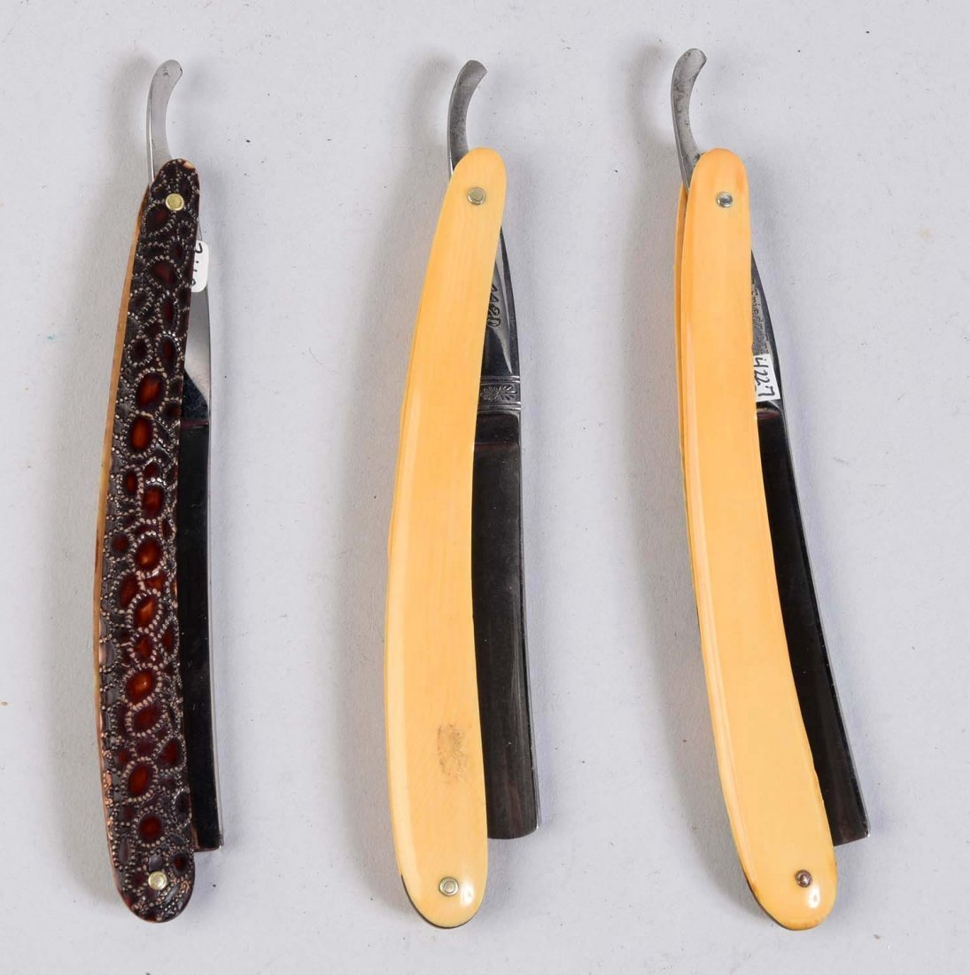 Lot Of 3: Celluloid Straight Razors. - 2