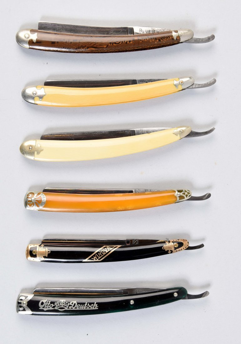Lot Of 6: Various Colorful Straight Razors.