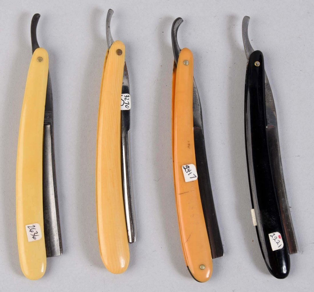 Lot Of 4: Celluloid Handled Straight Razors. - 2
