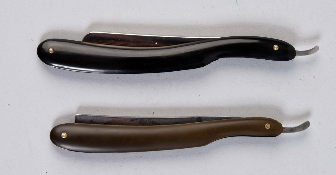 Lot Of 2: Gunstock Straight Razors.