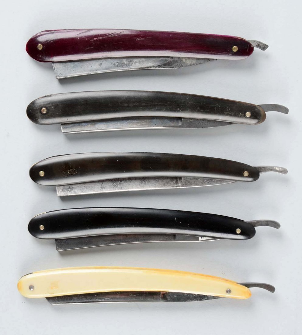 Lot Of 5: Straight Razors Some with Etched Blades. - 2