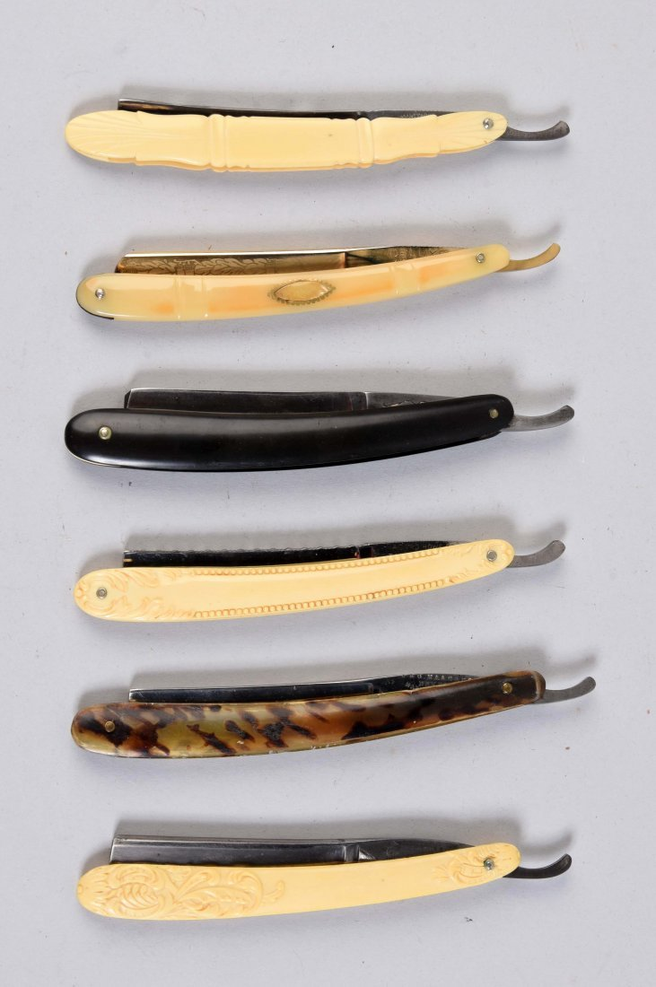 Lot Of 6: Various Celluloid & Spotted Horn Straight