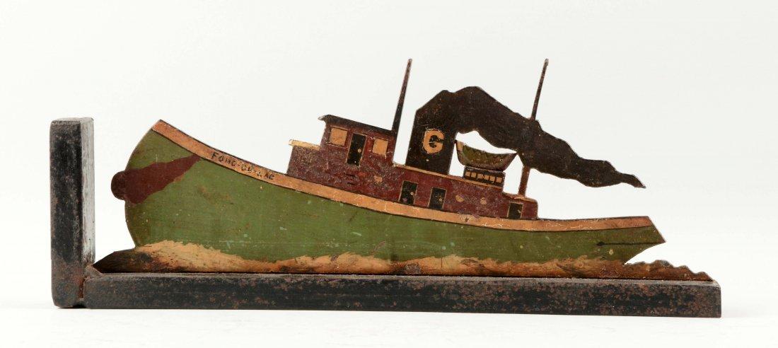 Cast Iron Tug Boat Doorstop.