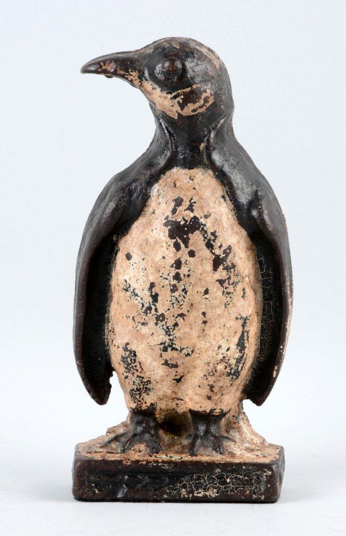 Cast Iron Penguin Doorstop.