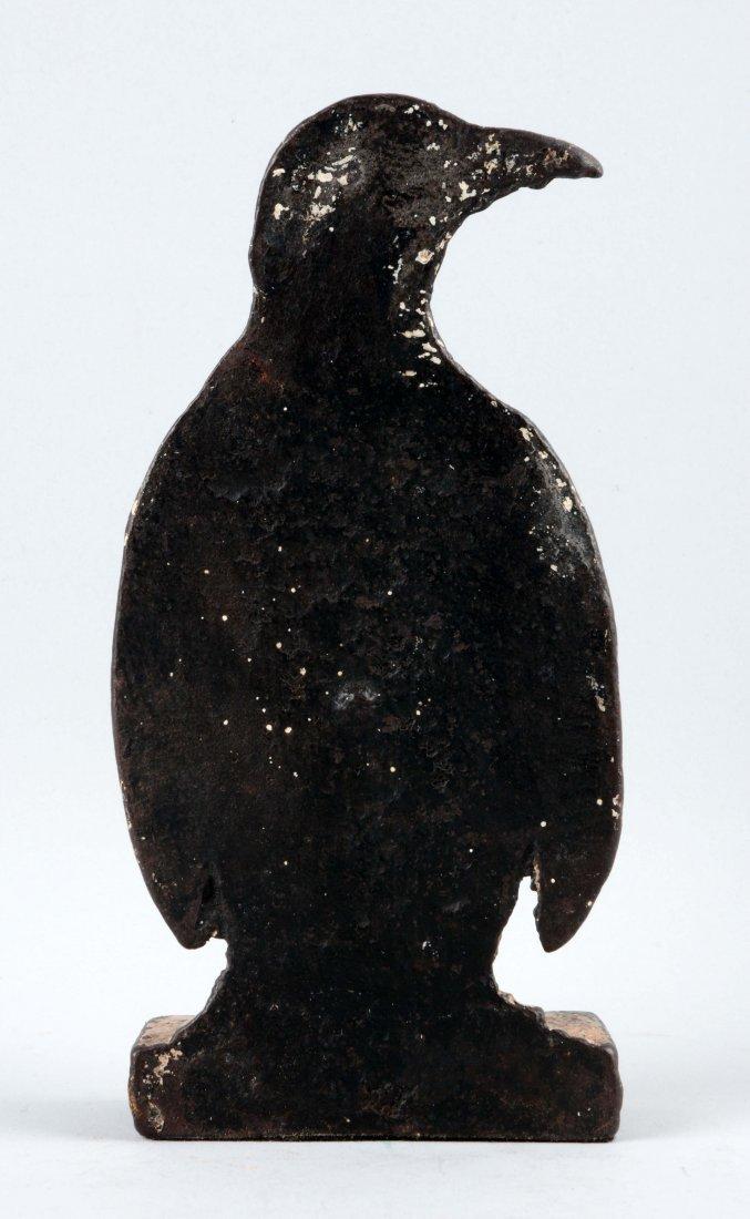Cast Iron Penguin Doorstop. - 2