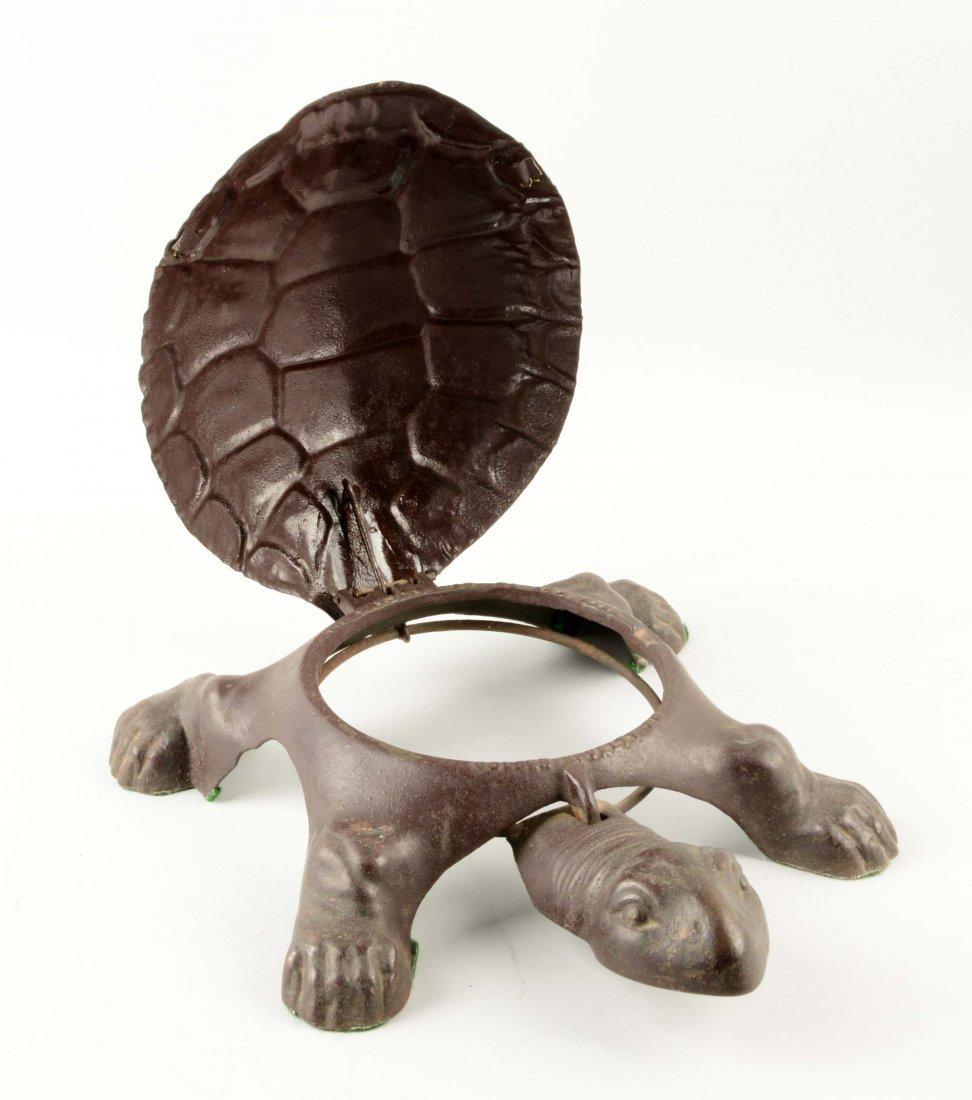Cast Iron Turtle Spittoon. - 2