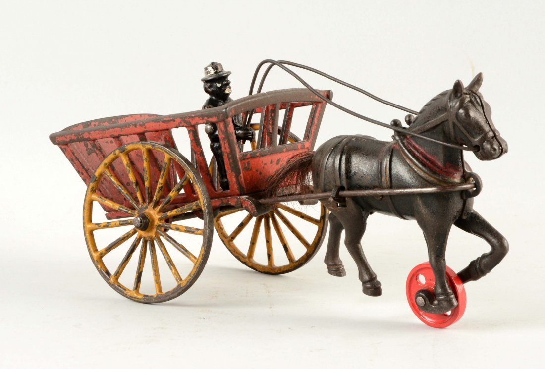 Cast Iron American Horse Drawn Cart.