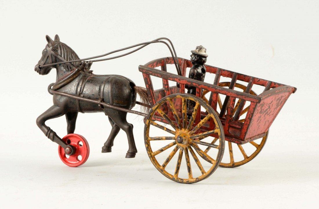 Cast Iron American Horse Drawn Cart. - 2