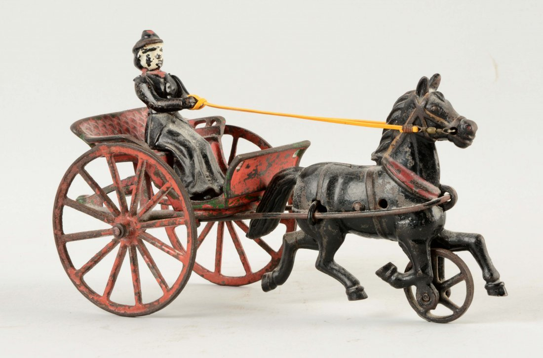 Cast Iron American Made Horse Drawn Surrey.